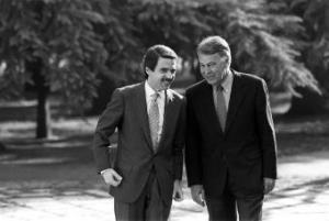 José M. Aznar i Felipe González - www.elpais.com